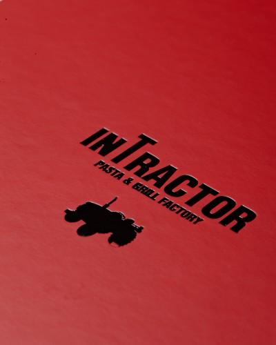 인트랙터 메뉴 디자인